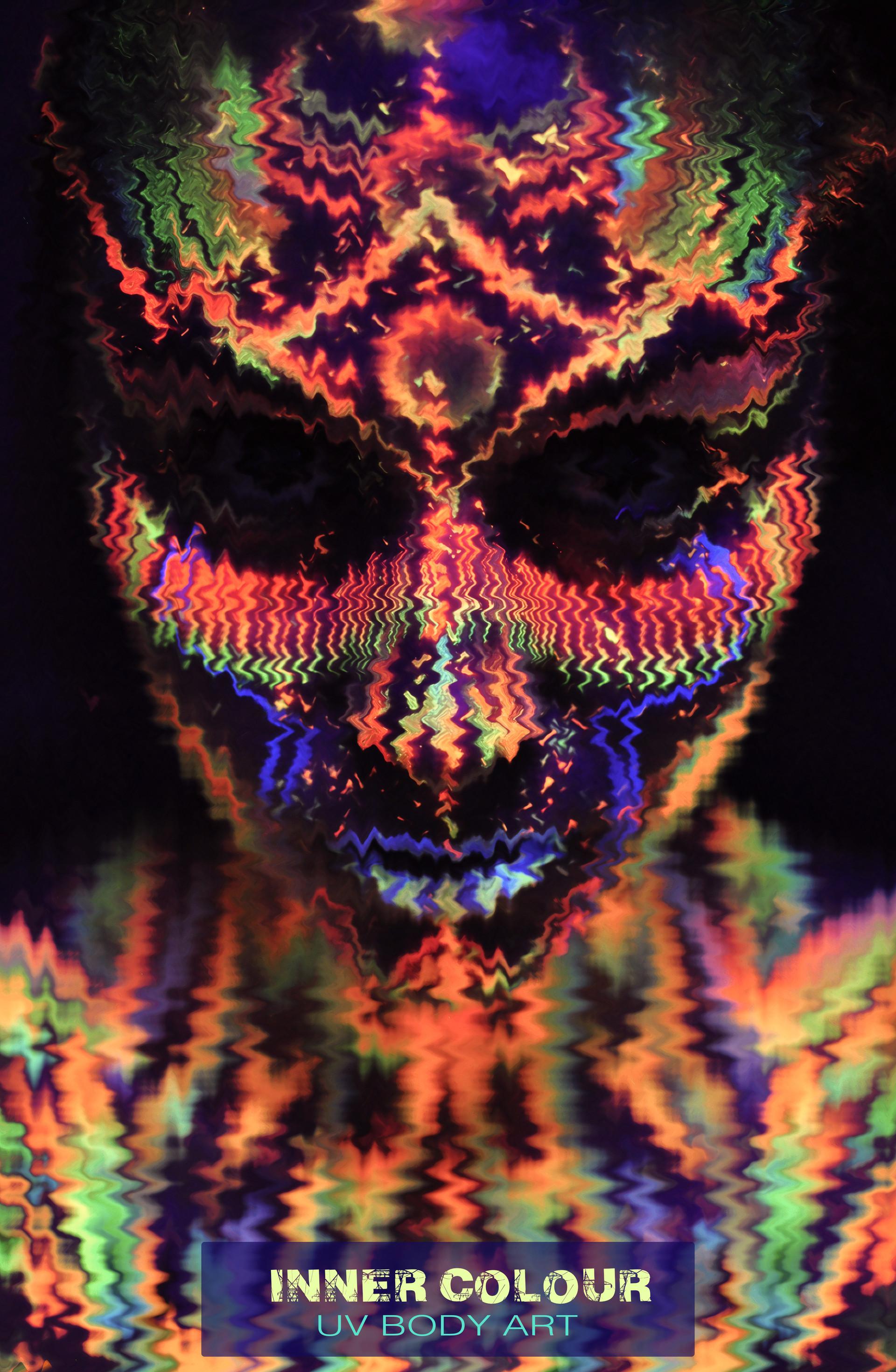 UV face paint , neon makeup