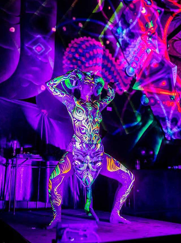 uv body painting melbourne performance a