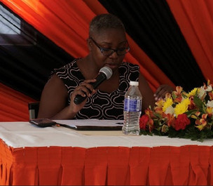 Noreen Daley moderating an Education Forum