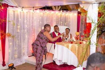 Noreen Daley hosting a wedding reception