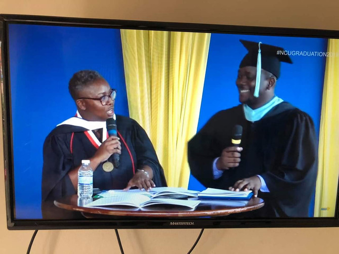 Noreen Daley hosting NCU 2019 Graduation-TV Interview