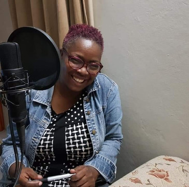 Noreen Daley hosting her podcast