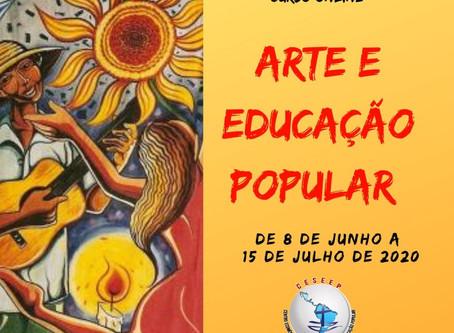 Curso de Verão Online Arte e Educação Popular 2020