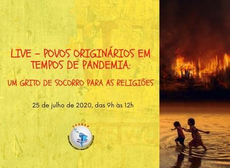 LIVE – Povos Originários em tempos de pandemia: um grito de socorro para as religiões