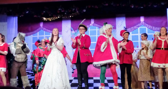 Leading lady and her man (well it is panto) Oh yes it is.