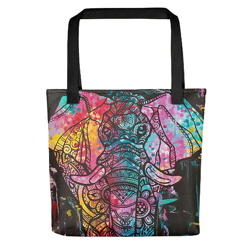 Elephant Pop Tote Bag