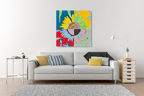 Ode to Andy: Sunflower Print