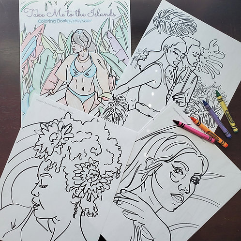 Take Me to the Islands Coloring Book
