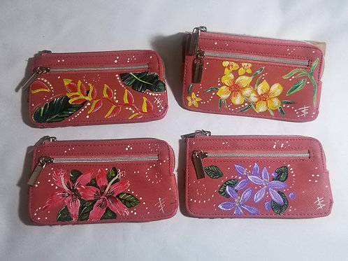 Hand painted Coral Card Cases