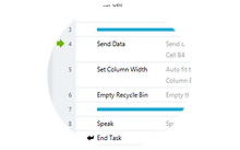 Get organized. Insert lines to group sections of your task.