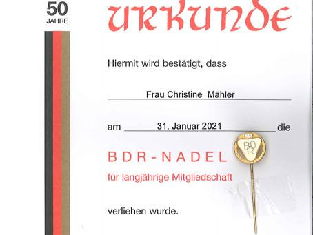 180 Jahre Mitgliedschaft im BDR- wir gratulieren.