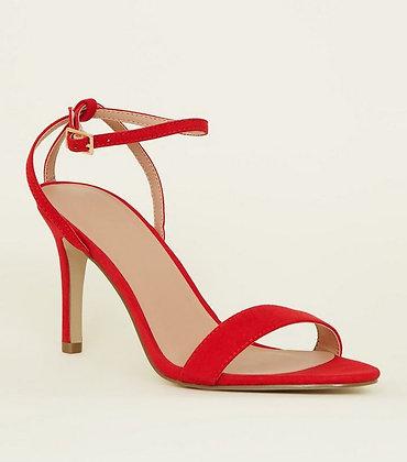 Suede Open Toe High Heeled Fashion Women Sandals