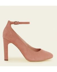 New Look Fashion Ankle Strap Block Heel Court Women Shoes- Light Brown