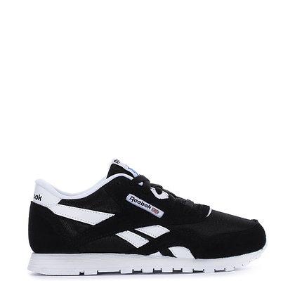 Reebok Classic Nylon Lace up Sneakers- Black&White