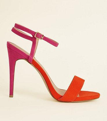 Multicoloured Ankle Strap Stiletto Women Sandals