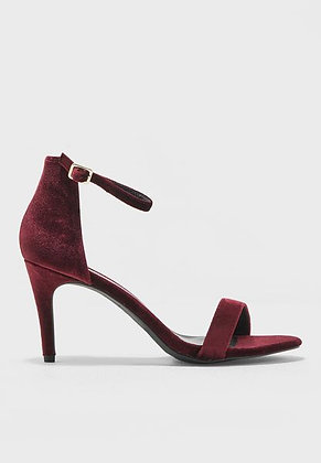 Fashion Wine Red Ankle Strap Stiletto Women's Shoes