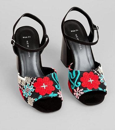 New Look Open Toe Block Heeled Women's Sandals
