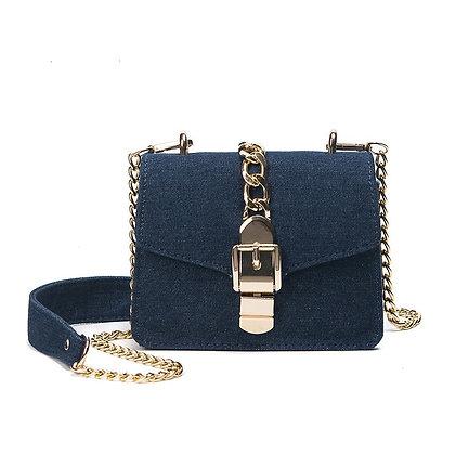 Denim Fashion Chain Strap Messenger Women's Handbags