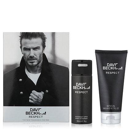 David Beckham Respect Deodorant Body Spray and Shower Gel Men's Gift Set