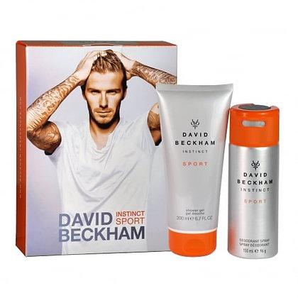 David Beckham Instinct Sport Deodorant Body Spray And Shower Gel Men's Gift Set