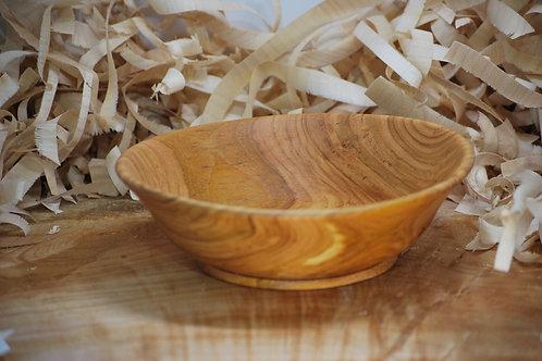 Petit saladier en bois de merisier Ø205 H63 mm. Pièce unique
