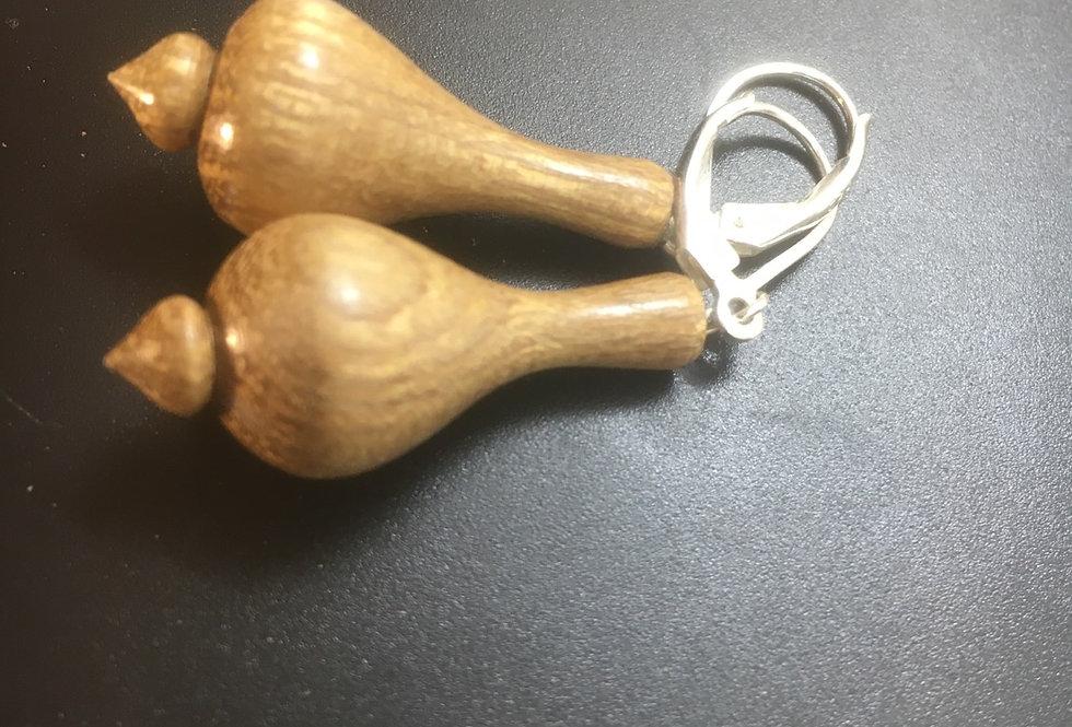 Boucles d'oreilles en bois d'acacia ø13mm L30mm