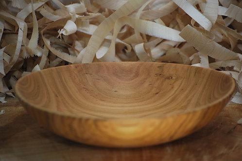 Assiette creuse en  bois de cerisier Ø220 H50 mm