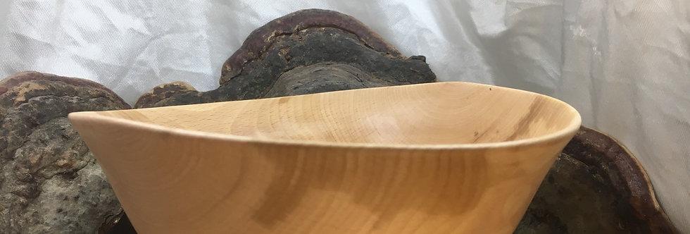 Saladier en bois de hêtre ø21cm H9cm. Pièce unique