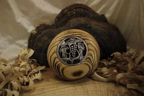 Pot pourri en frêne brûlé ø14cm H 6cm