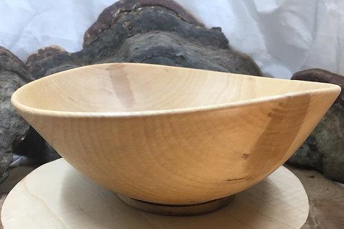 Saladier en bois de hêtre ø19cm H9cm. Pièce unique
