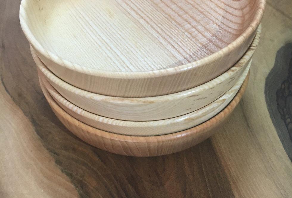 Assiette en bois de frêne ø18cm H4cm