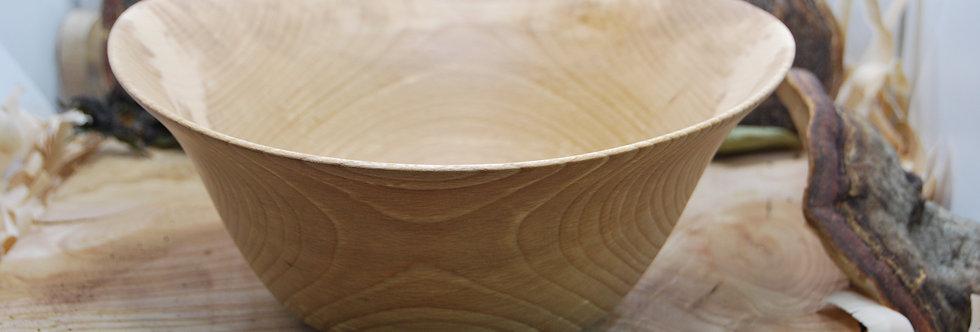 Saladier en bois de hêtre Ø230 H100 mm. Pièce unique