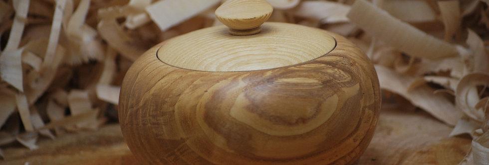 Boite en bois de frêne Ø150 H120 mm