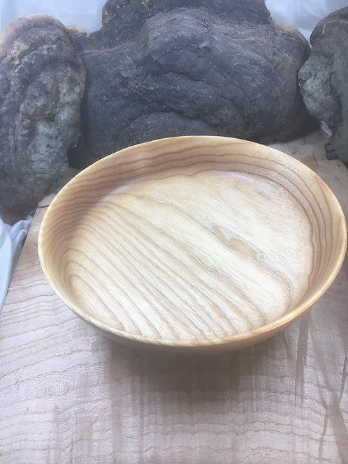 Assiettes en bois de frêne rebord droit ø19-20cm H4-4,5cm