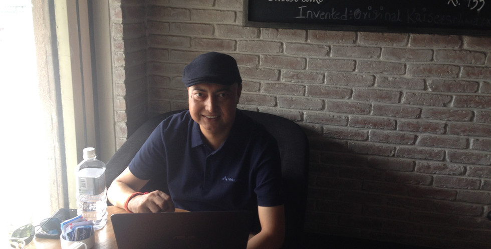 Deepak typing.JPG