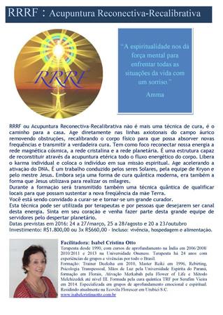 RRRF: Acupuntura Reconectiva-Recalibrativa em Urubici - SC