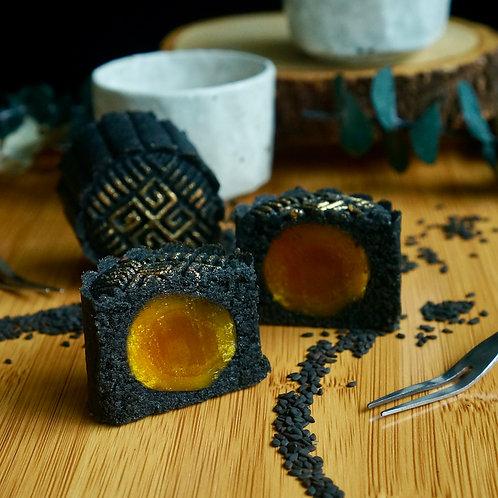 Keto Black Sesame Mooncake with Yolk