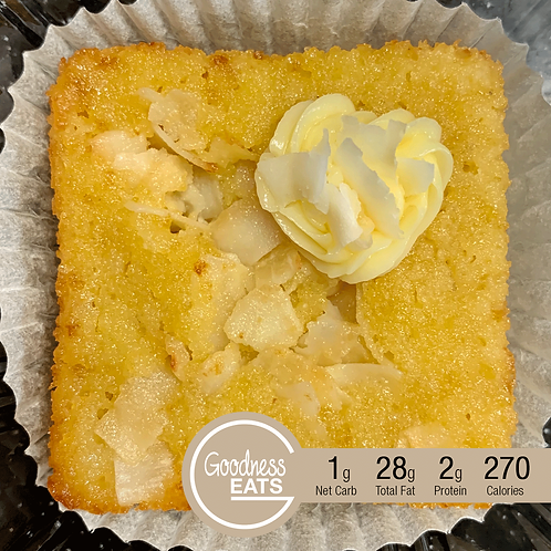 Keto Coconut Blondies with Buttercream