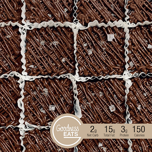 Keto Brownies with Fudge and Sea Salt