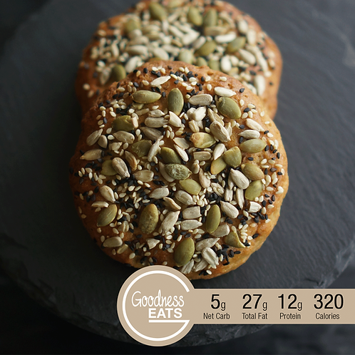 Almond Burger Bun with Assorted Seeds Topping