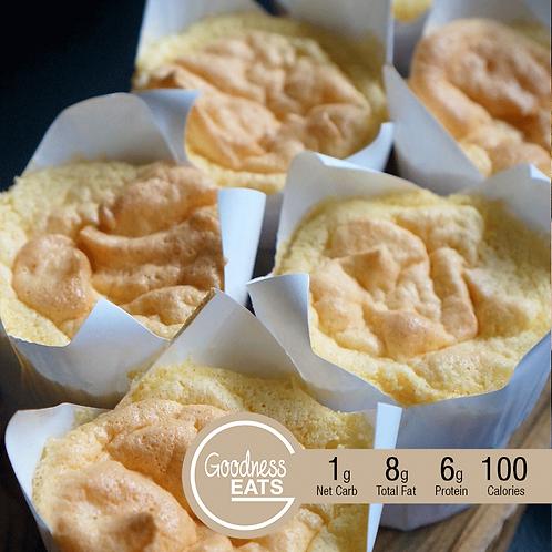 Keto Lemon Chiffon Cupcakes - 2pcs set