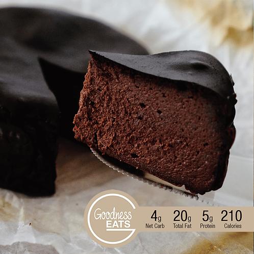 """Keto 6"""" Chocolate Burnt Cheesecake"""