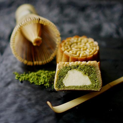 Keto Matcha Cheese Mooncake