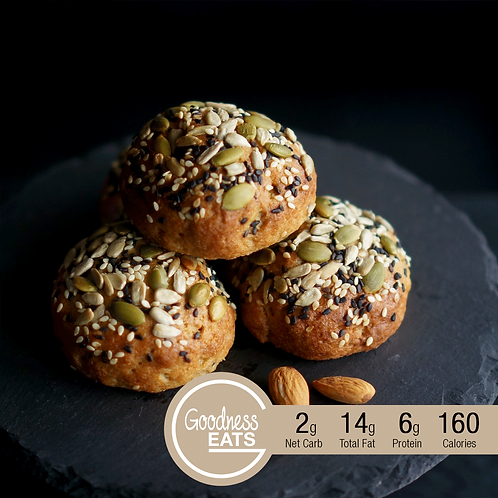 Almond Bun with Assorted Seeds Topping