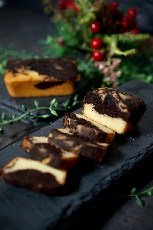Keto Chocolate Marble Mini Loaf
