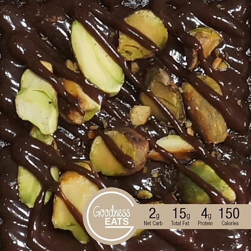Chocolate Brownies with Pistachio and Chocolate Fudge Toppings