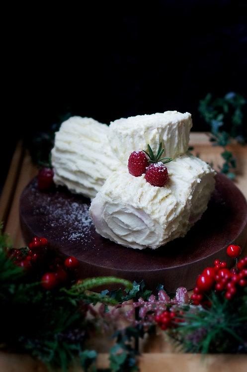 Passion Raspberry Log Cake