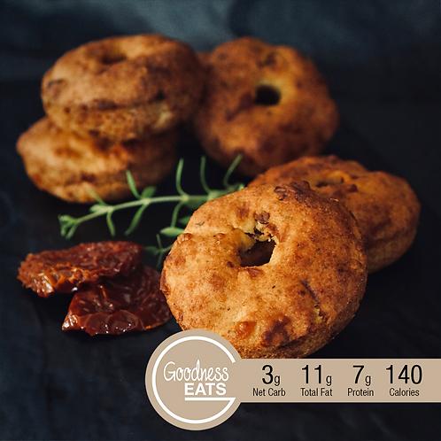 Keto Cheesy Sun Dried Tomato Bagels - 3pcs set