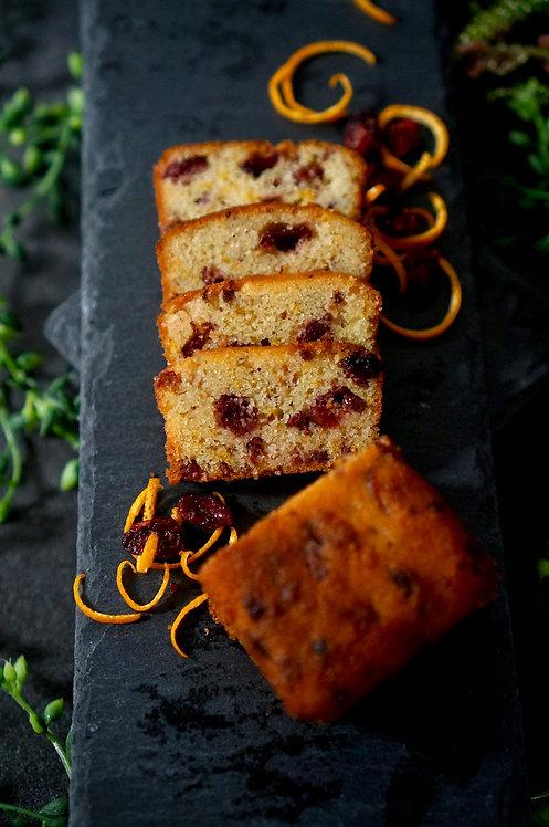 Keto Cranberry Orange Fruitcake Mini Loaf