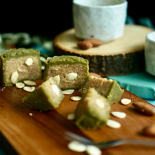 Keto Almond Mooncake with Melon Seeds